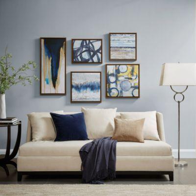 Jla Home Madison Park Blue Bliss Gallery Art Set Of 5 Reviews Wall Art Macy S Multi Color Wall Art Wall Art Sets Wall Deco