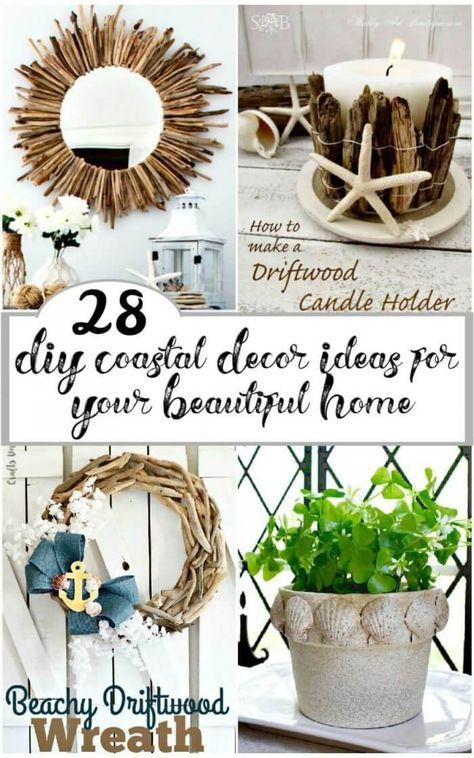 28 DIY Coastal Decor Ideas for Your Beautiful Home ? DIY Crafts