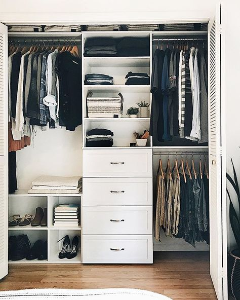 😍 Swipe through to see closet set up before she added these game-changing organization solutions.✨ Tap the link in our bio to shop for your own closet organization project. Small Closet Design, Bedroom Closet Design, Master Bedroom Closet, Closet Designs, Small Bedroom Closets, Dream Closets, Organize Bedroom Closets, Small Master Closet, Bedroom Closet Storage