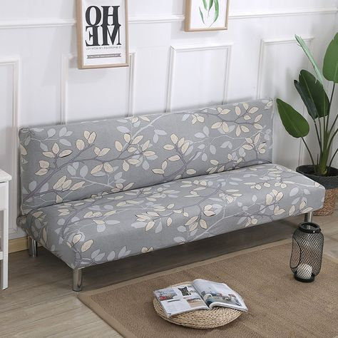 Universal Size Armless Sofa Bed Cover
