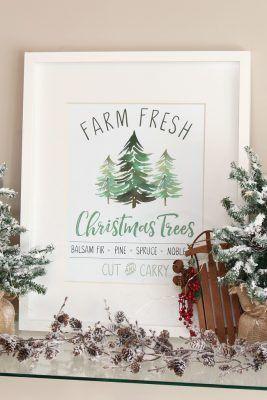 Farm Fresh Christmas Trees Free Christmas Printable Clean Scentsible Free Christmas Printables Fresh Christmas Trees Christmas Tree Printable