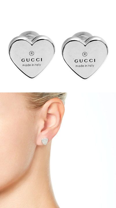 8b9d7da03 Fine Earrings 10985: Gucci 925 Silver Heart Earrings -> BUY IT NOW ONLY:  $144.15 on eBay!