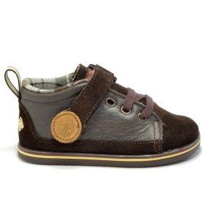 Zapatos marrones con velcro infantiles eYVtaz