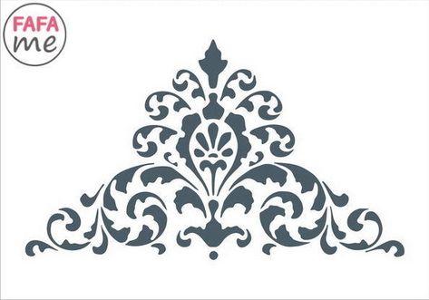 Damask Decorative Corner Reusable Stencil 10x15 cm Decoupage Craft Furniture ...