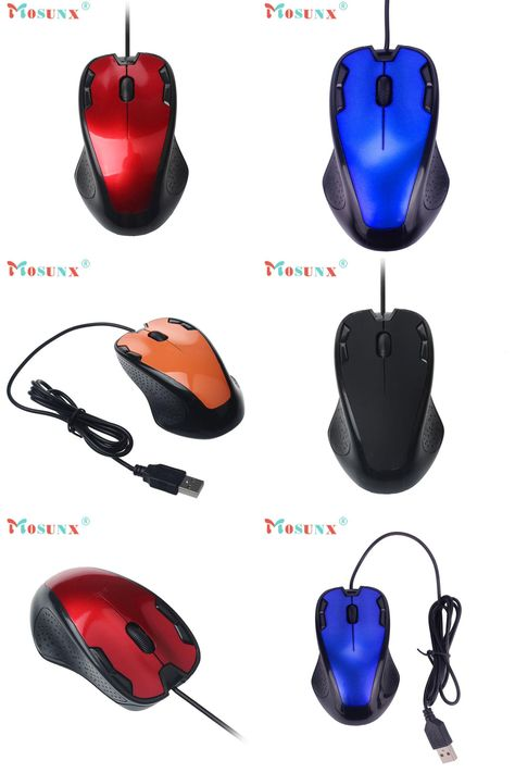 1800 DPI USB Wired Scroll Optical Gaming Mice Mouse For PC Laptop Computer