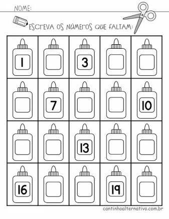 Resultado De Imagem Para Atividades Matematica Educacao Infantil
