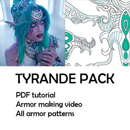 Tyrande Tutorial And Patterns For Cosplay Inspired By World Of