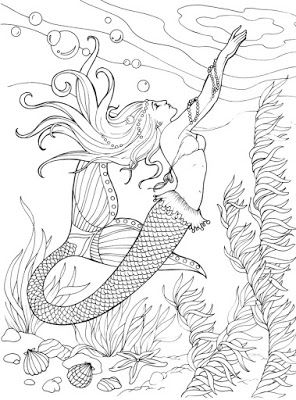 Mermaid Designs To Color Pinforlater Images Coloringpages Mermaids Beach Ocean Mermaid Coloring Pages Mermaid Coloring Coloring Books