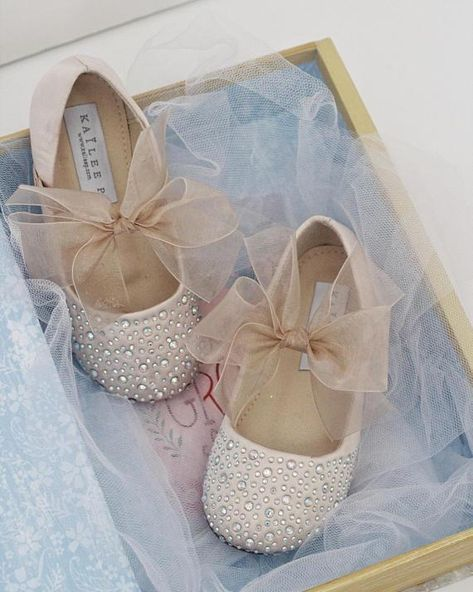 7cdd75bcde274 CHAMPAGNE Satin Mary Jane Flats With Rhinestones Embellishment ...