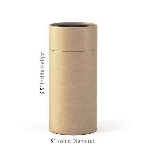 6.5 x 3 Paper Tube - Kraft - 250 / No