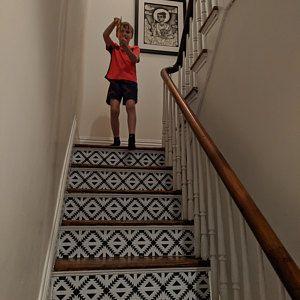 Encaustic Moroccan Tile Wall Stair Floor Self Adhesive Vinyl Etsy With Images Tile Decals Bathroom Vinyl Tiles
