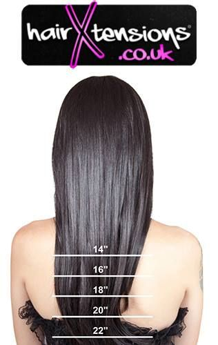 Hairxtensions Co Uk Length Guide Hair Extensions Hair Extensions Uk Real Human Hair Extensions