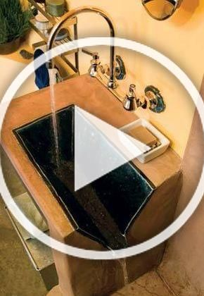 No Need To Plumb A Tiny Bathroom Sink Just Make It Drain Into The Shower Or Tub Love It Diy Room Decor Diy Home Decor Home Diy