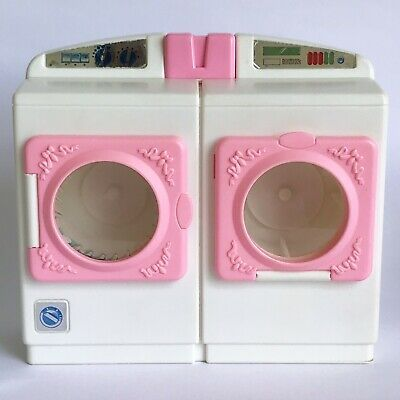 Vintage Barbie Mattel 1993 Washer Dryer Set Washing Machine Laundry White Pink Ebay Washer Dryer Set Vintage Barbie Washer And Dryer