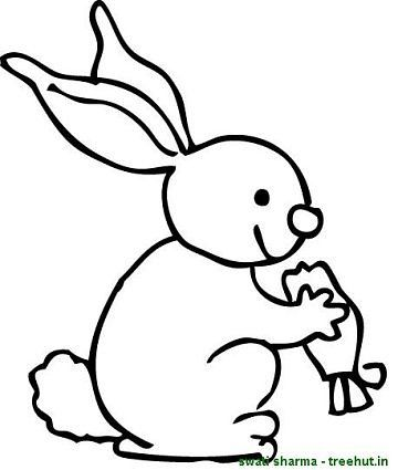 Rabbit eating carrot coloring sheet  Coloring Pages  Pinterest