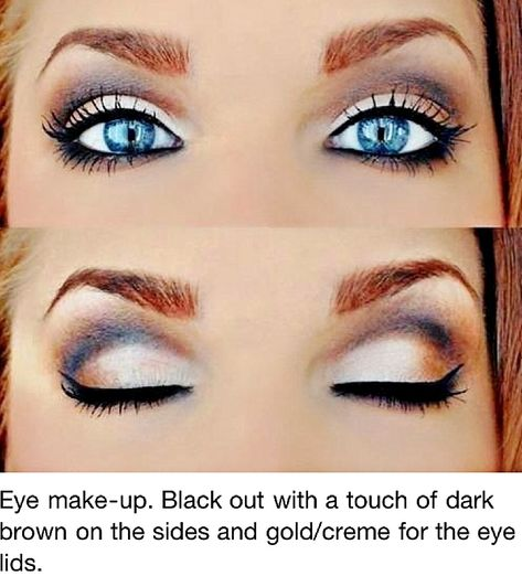 Wedding make-up; for the blue eyed beauties;)