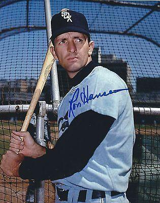 Signed 8x10 RON HANSEN Chicago White Sox Autographed photo - COA