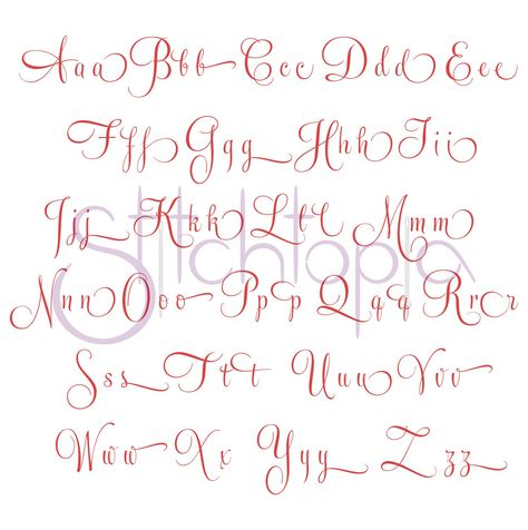 Bella Embroidery Font Set - 2