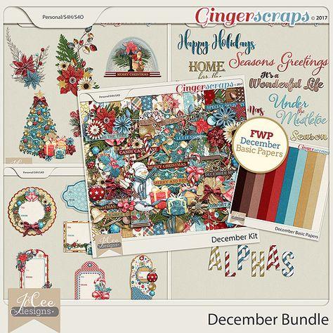 mistletoe December Bundle includes the:...
