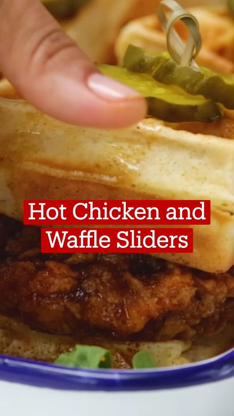 Hot Chicken and Waffle Sliders