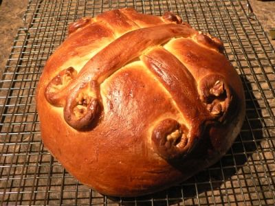 Christopsomo, christmas bread served in the Greek Orthodox tradition