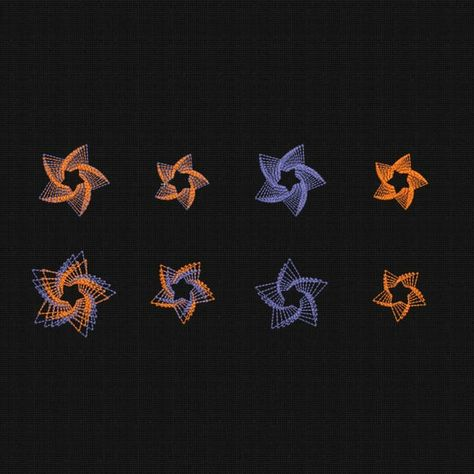 Machine Embroidery Designs Stars Set 8 Items 3x3 In Instant