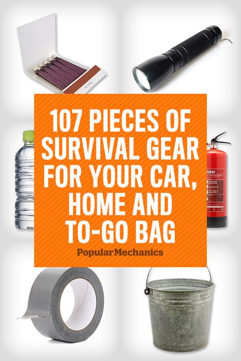 3 disaster kits--one for your home, one for your car and one in a backpack for quick evacuations. This way, when disaster strikes and there's no time to think, you won't have to.