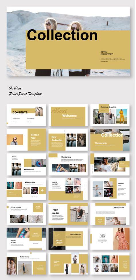Art Fashion Minimal Design Powerpoint Template Pamphlet