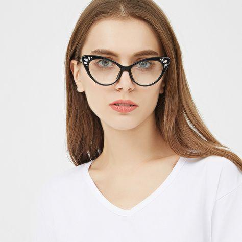 4704717df9ab  7.99 Peekaboo rhinestone glasses frame women optical sexy cat eye glasses  frames for women black purple pink brown  rhinestoneeyewear  cateyeglasses