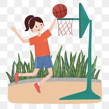Gambar Watak Sukan Angka Ilustrasi Gadis Bermain Bola Keranjang Sukan Dan Kecergasan Watak Kartun Ilustrasi Bola Watak Sukan Angka Ilustrasi Png Dan Psd Untu Illustration Sport Girl Art