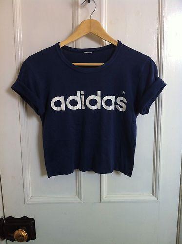 adidas crop shirt schwarz