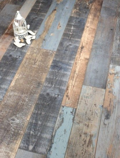 Lamett Antique Cobalt Blue Laminate Floor Uses 3 Different Widths To Add To The Reclaimed Impression It Leave Laminate Flooring Flooring Wood Laminate Flooring