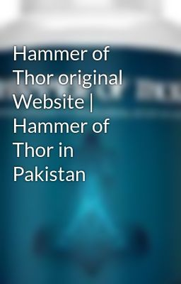hammer of thor in pakistan price hammer of thor supplement in