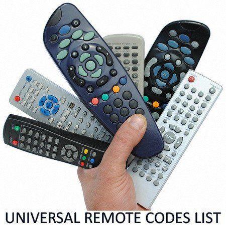 Universal Remote Control Codes List Tv Sat Dvr Universal Remote Control Remote Control Remote