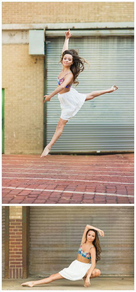 Senior portrait ideas, beautiful, senior portrait photography, senior images, senior session, contemporary dance ideas poses, white skirt, urban, jump