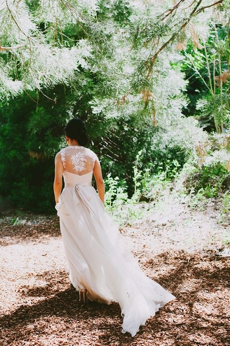 be + myke | Onyx Gown by Catherine Deane for BHLDN | via: wedding party app | #BHLDNbride