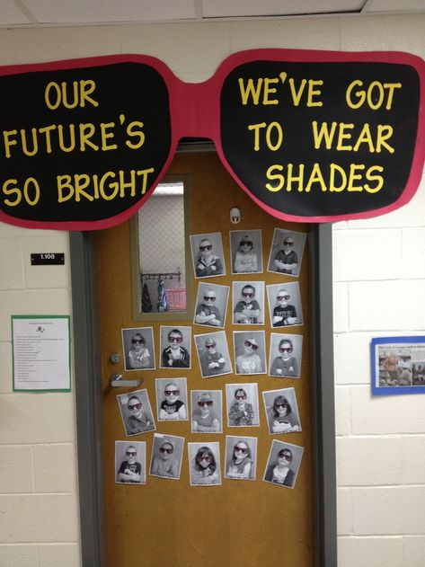 End of the year/ future career door decoration. Could also be used for back to school too!