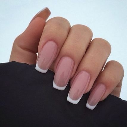 51 Ideas Nails Natural Long Blondes French Tip Acrylic Nails French Acrylic Nails French Manicure Nails