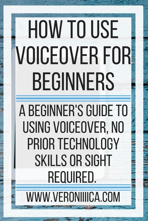 How To Use VoiceOver For Beginners. A beginner's guide to using VoiceOver, no prior technology skills or sight required. Written for iPad, iPhone, and iPod Touch. New Technology 2020, New Technology Gadgets, Technology Quotes, Technology Gifts, Assistive Technology, Futuristic Technology, Medical Technology, Energy Technology, Educational Technology
