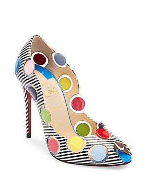 best website e6d73 a8530 Christian Louboutin Lady Bug Polka Dot Peep Toe Pumps 1195 ...
