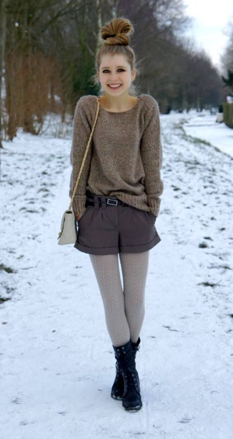 Cable knit tights are great with boots & tweed shorts, especially with a chunky sweater.