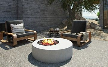 Hestia Concrete Fire Table By Nisho Fire Table Fire Pit Video