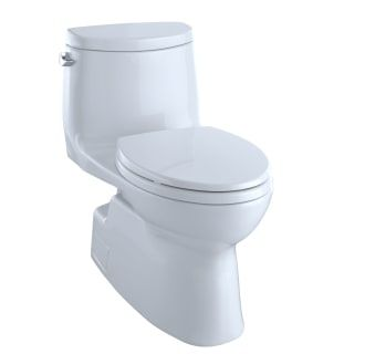 Toto Ms614114cefg 01 Cotton Carlyle Ii One Piece Elongated 1 28 Gpf Toilet With Double Cyclone Flush System Seat Included One Piece Toilets Toto Toilet Toto