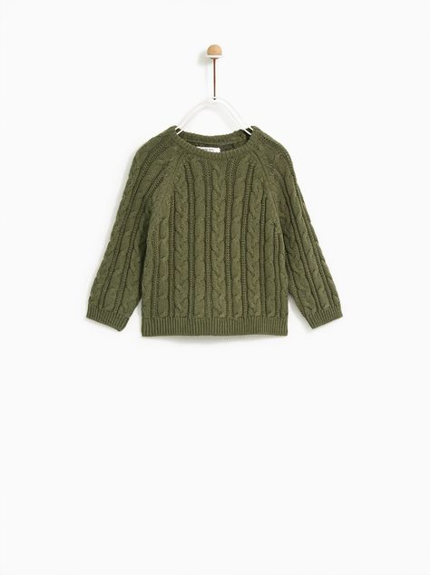 Image 1 of CABLE SWEATER from Zara