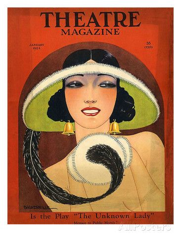 Shop Theatre Magazine Cover 1924 Vintage Deco Poster created by cowboyannie.