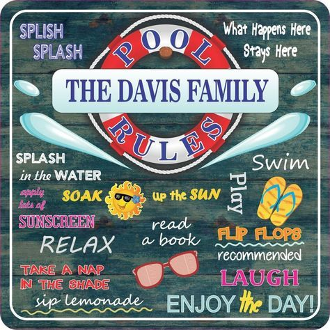 Classic Swimming Pool Rules Sign With Distressed Wood Background Summer Quotes Pool Rules Sign Pool Rules Pool Signs
