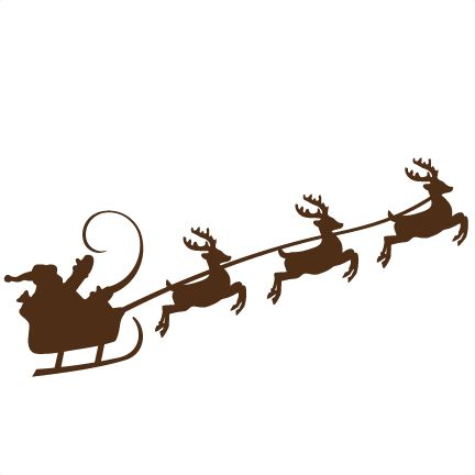 Reindeer Pulling Santa SVG Cutting Files For Scrapbooking Cute Cut Christmas Svg Free Svgs