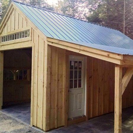 One Bay Garage With Images Shed Garage Door Design Barns Sheds