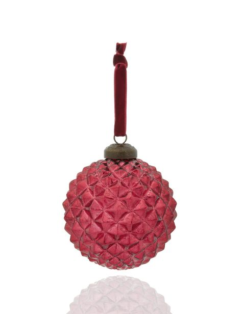 Moulded Glass Christmas Bauble