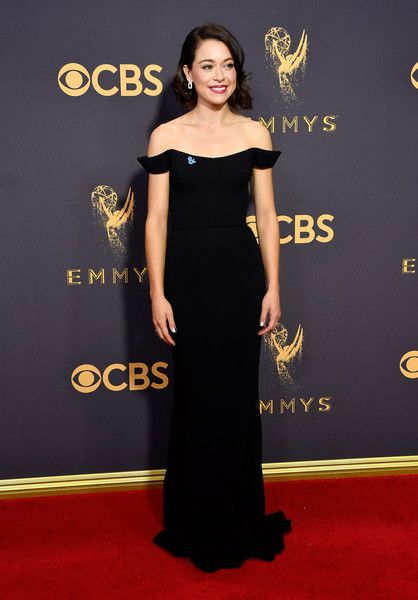Actor Tatiana Maslany attends the 69th Annual Primetime Emmy Awards.